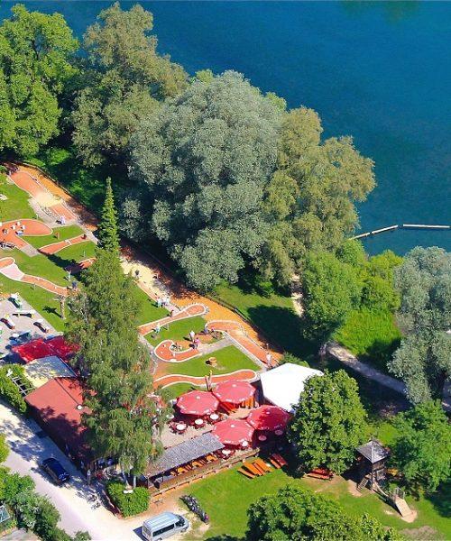 Luftbild Minigolfplatz